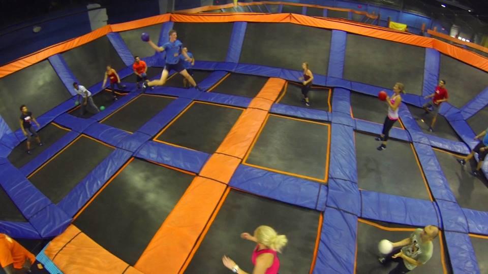 Trampoline dodgeball?!